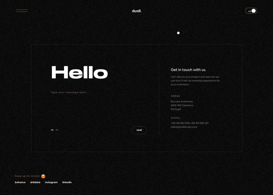 DuallStudio - Contact page
