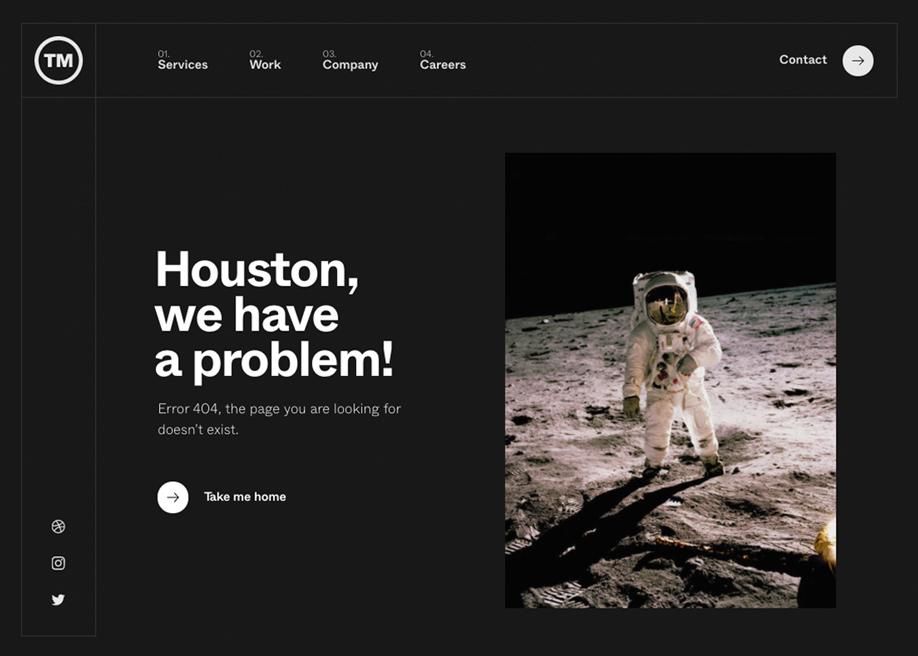 404 error page - We are TM