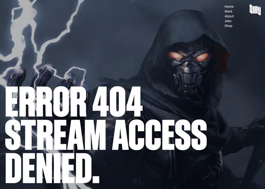 404 error page - SIXMOREVODKA