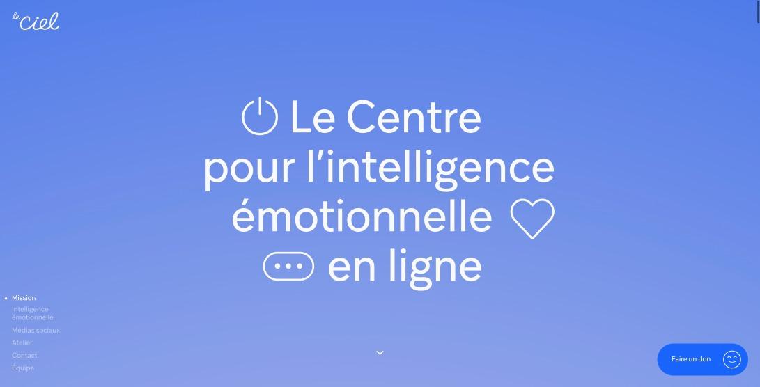 Le CIEL (Centre pour l'intelligence émotionnelle en ligne)