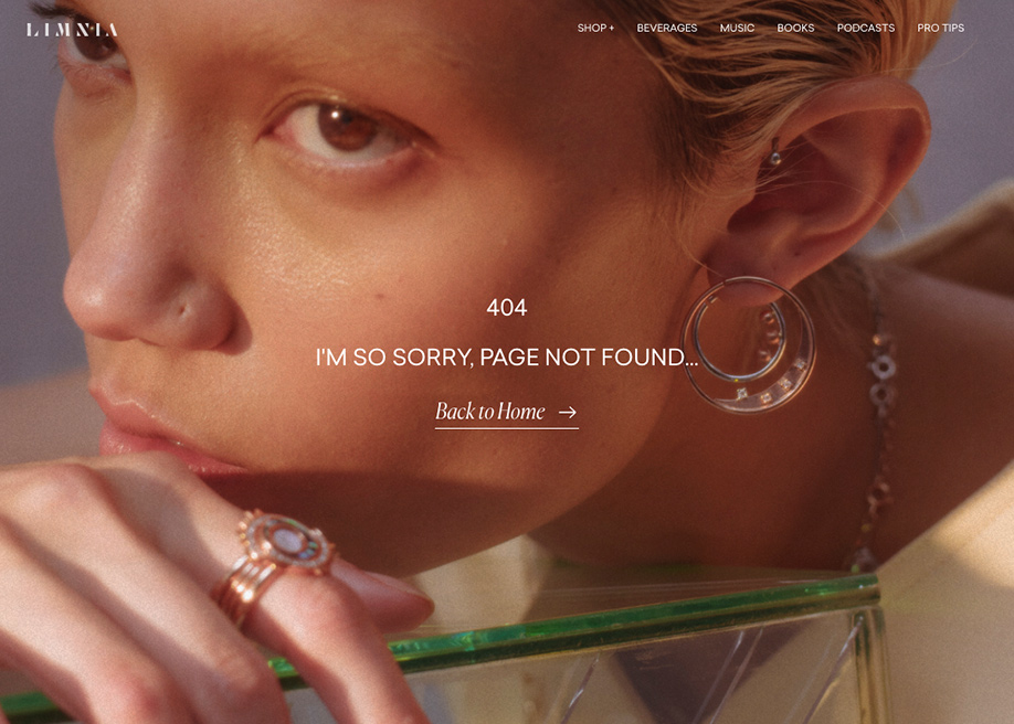 404 error page - Araw Collection
