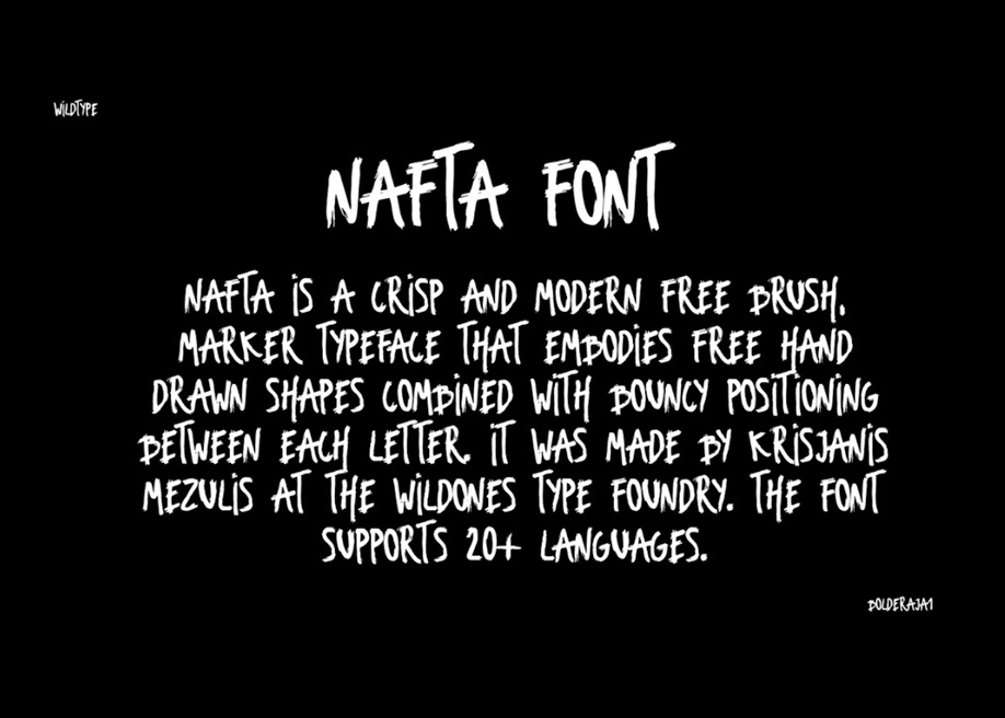 Nafta free font by Krisjanis Mezulis