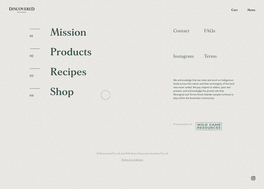 Discovered Foods - Footer design