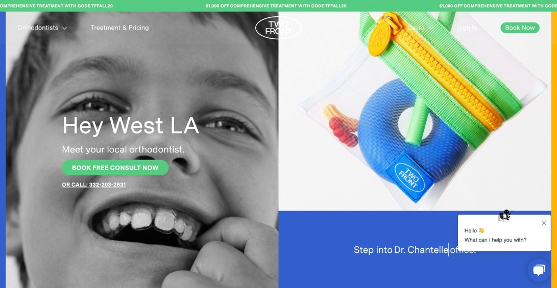 Modern Orthodontic Care for Kids - Two Front