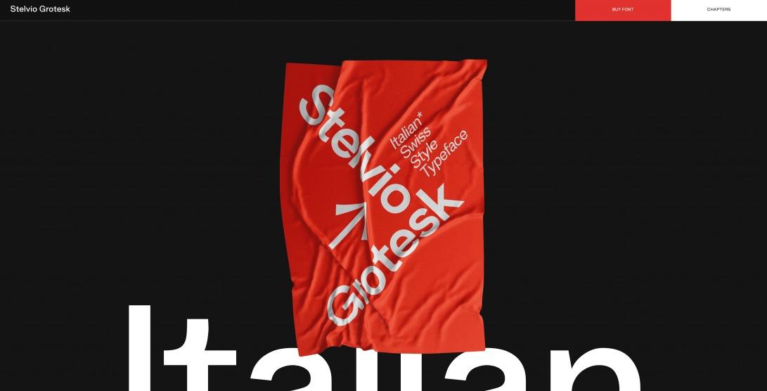 Stelvio Grotesk - A Italian Swiss Style Typeface