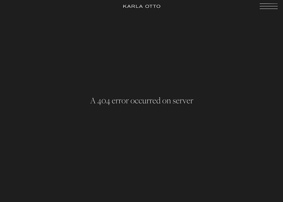 Karla Otto - 404 error page