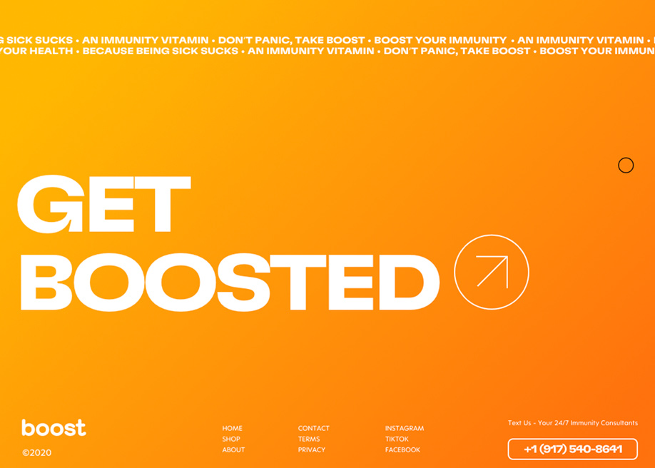Footer design - Boost