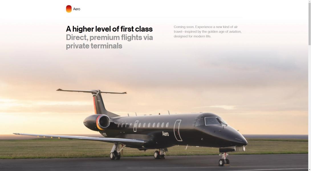 Aero | Direct flights between private terminals