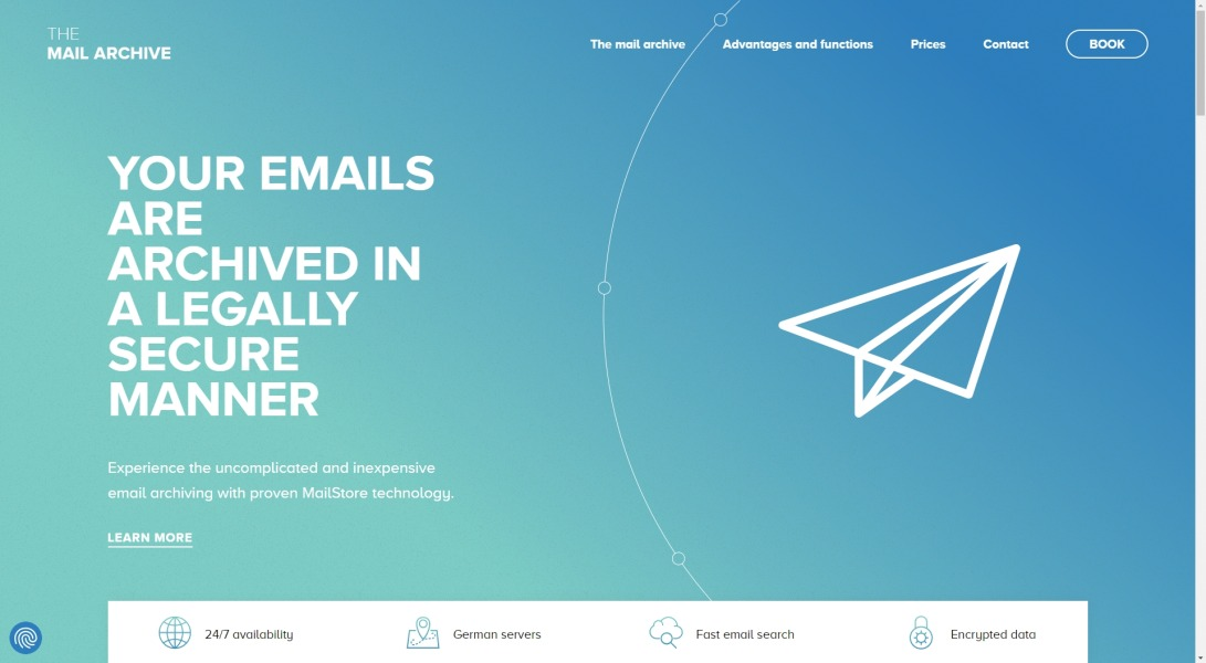 The mail archive | Legally compliant email archiving in the cloud