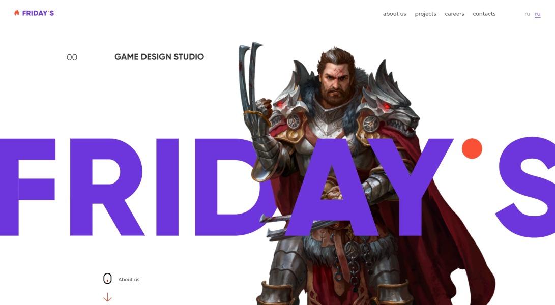 Development of mobile game - game design studio Friday's Games