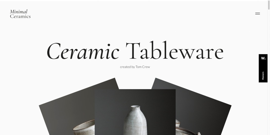 Ceramic Tableware created by Tom Crew