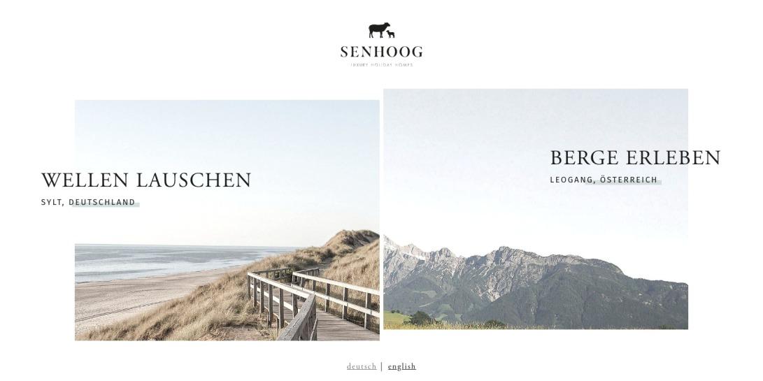 SENHOOG Ferienhäuser. Exklusiv auf Sylt und in Leogang.