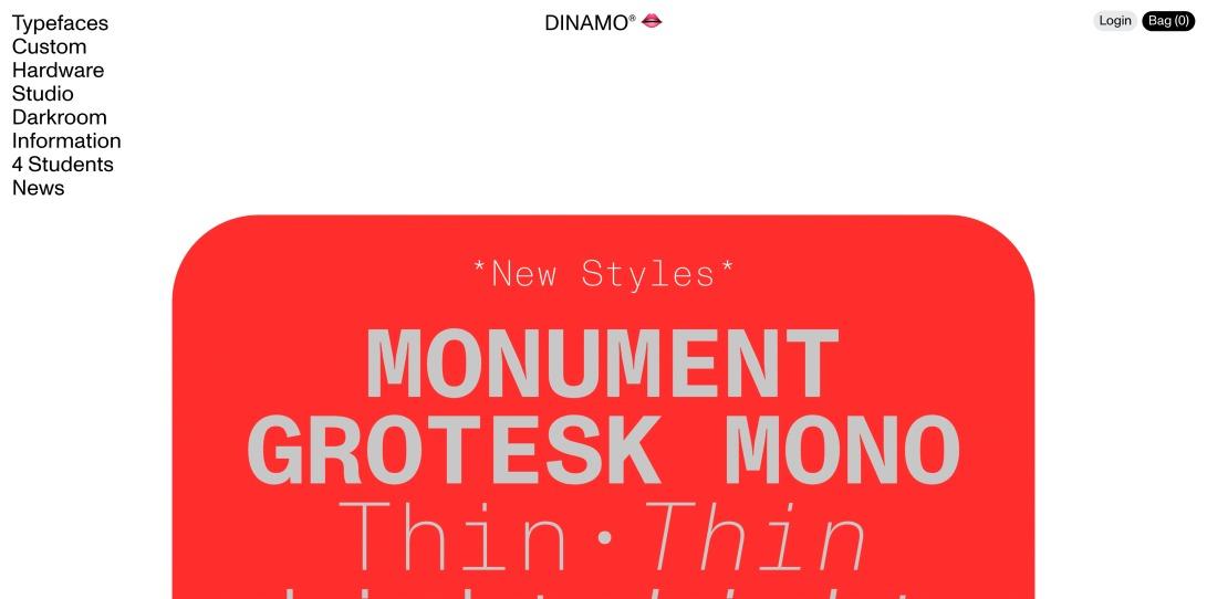 Home — Dinamo Typefaces