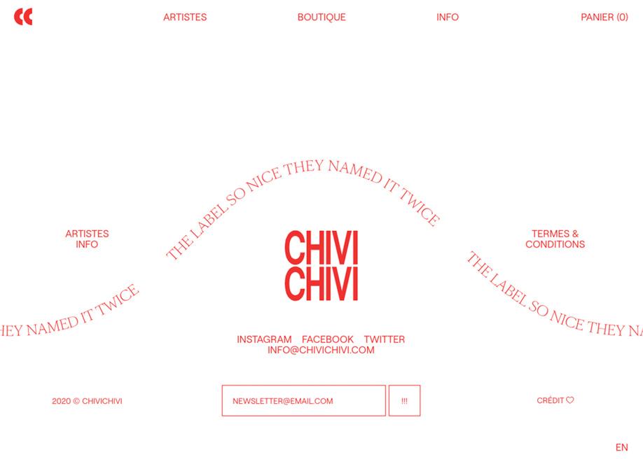 Chivi Chivi footer design