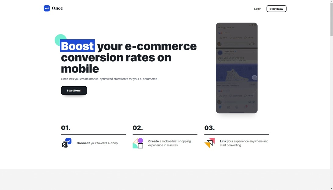 Once   Boost your e-commerce conversion rates on mobile