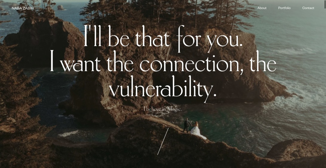 Naba - I'll be that for you. I want the connection, the vulnerability.
