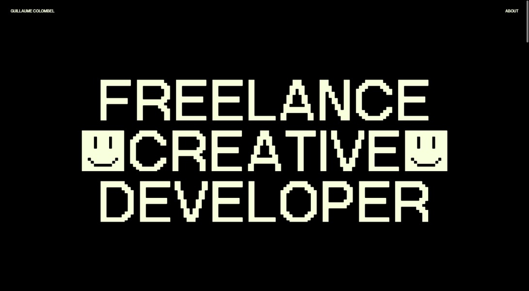 e Colombel — Freelance Creative Developer — Guillaum
