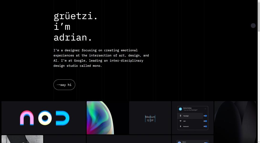 Adrian Z. · Interface Designer
