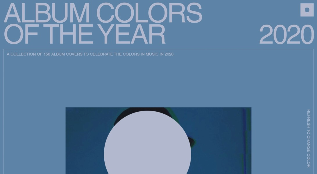 2020 - Album Colors Of The Year
