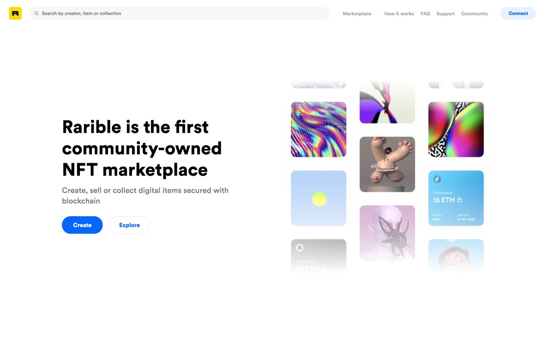 Rarible - create and sell digital collectibles secured with blockchain