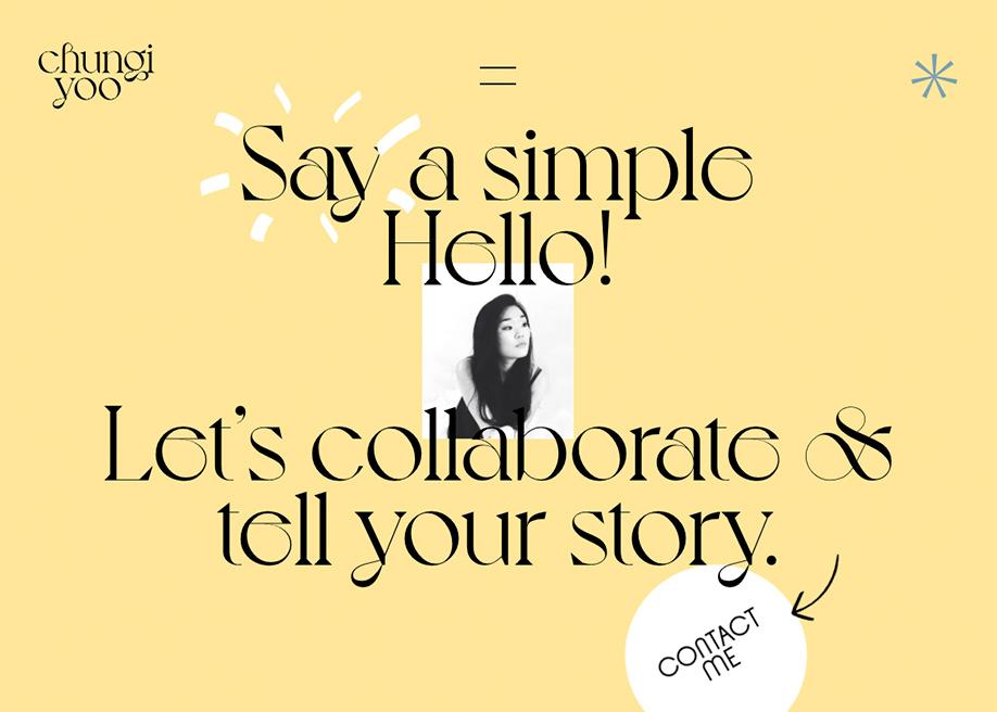 Chungi Yoo Folio - Contact page