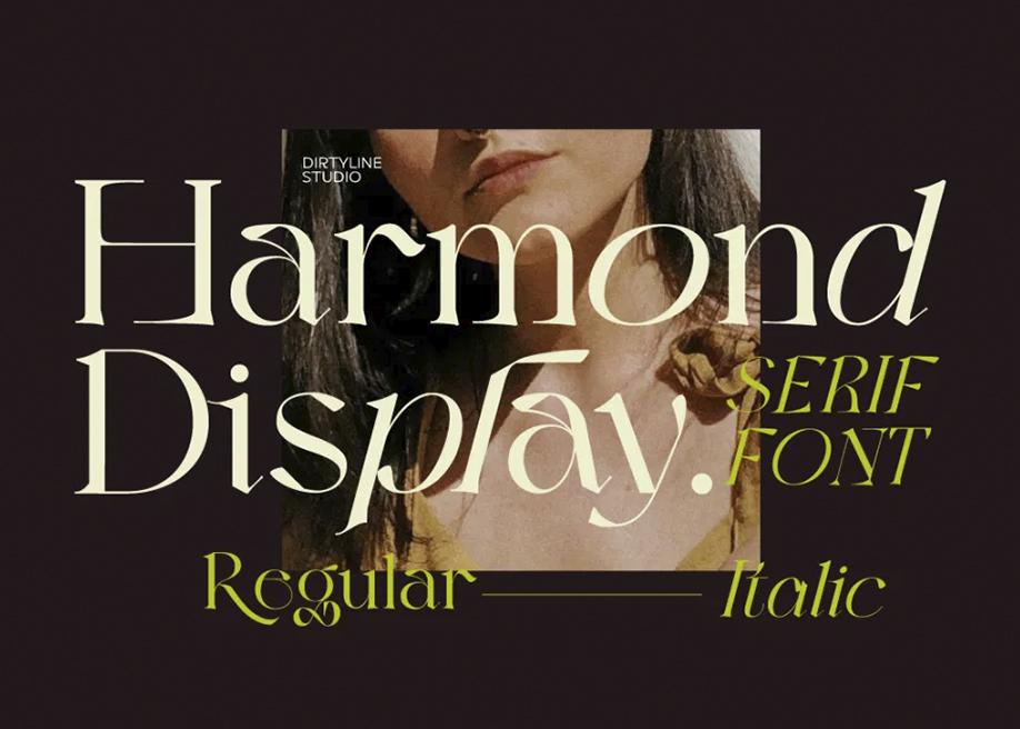 Harmond free display typeface