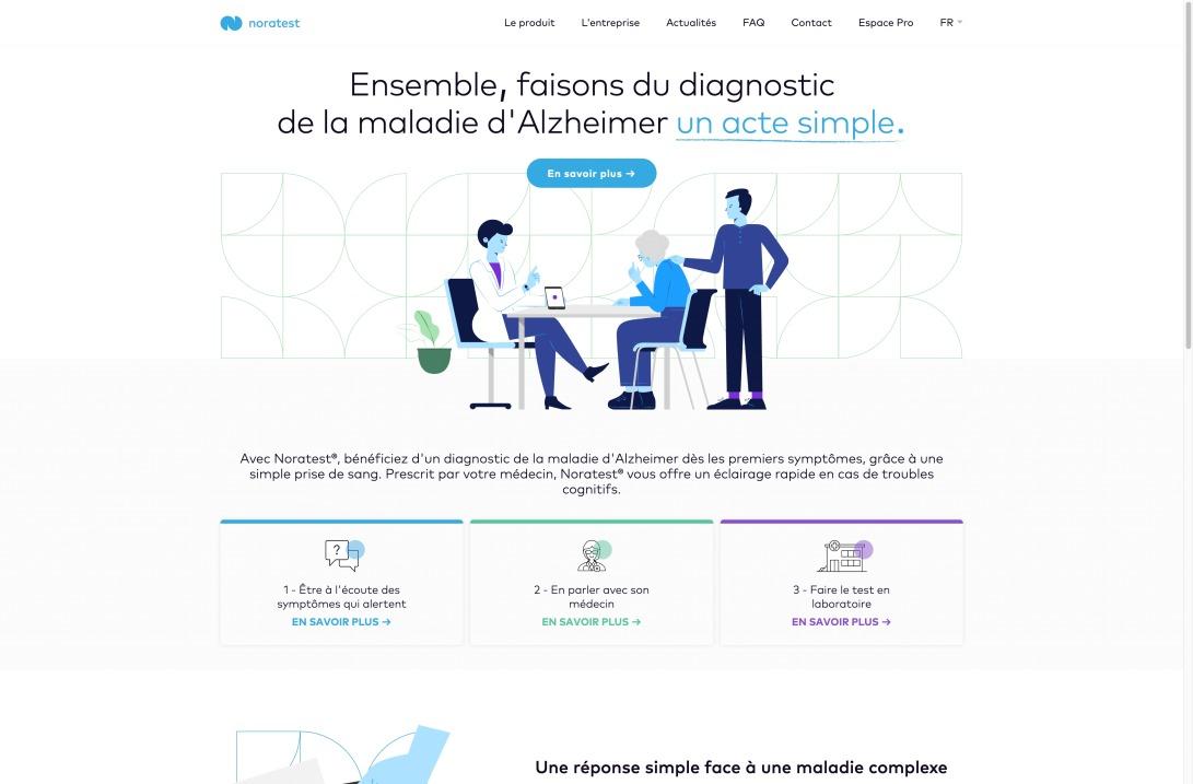 ALZOHIS - Noratest® pour détecter la maladie d'Alzheimer à partir d'une simple prise de sang