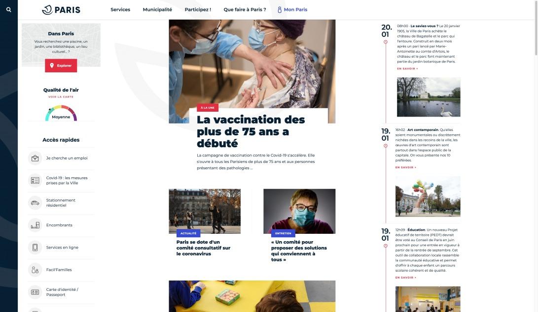 Paris.fr, site officiel de la Ville de Paris