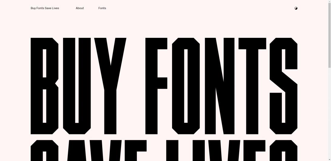 Buy Fonts Save Lives