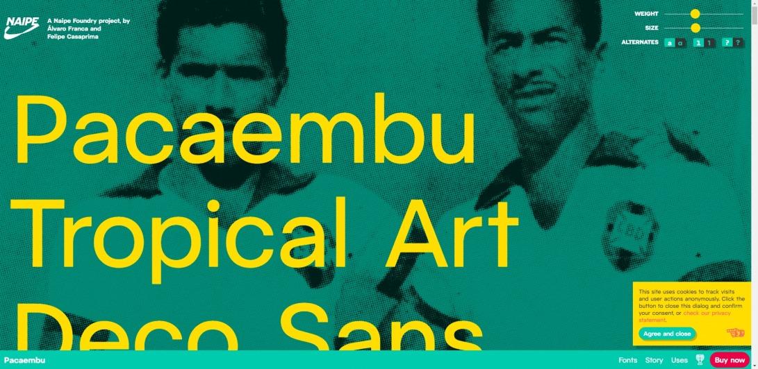 Pacaembu ⚽️ Tropical art deco sans serif