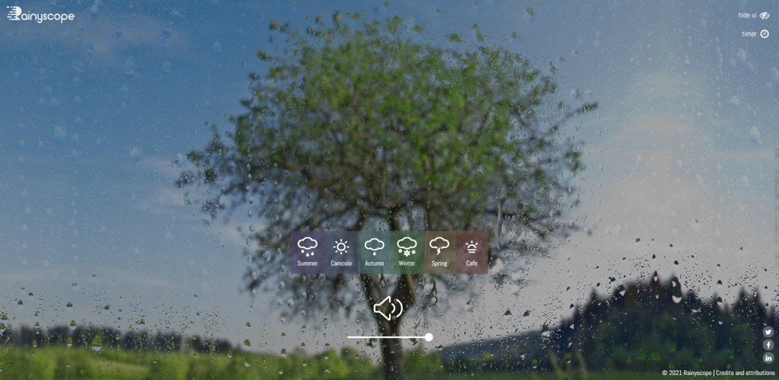 Rainyscope weather simulator: the beauty of the changing seasons.
