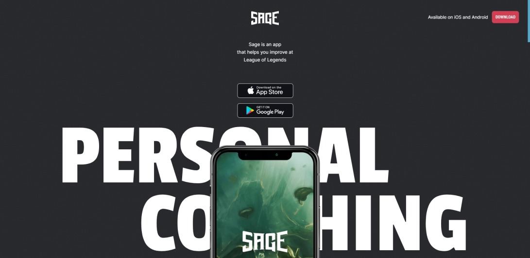 Sage App — Personal Coaching for League of Legends