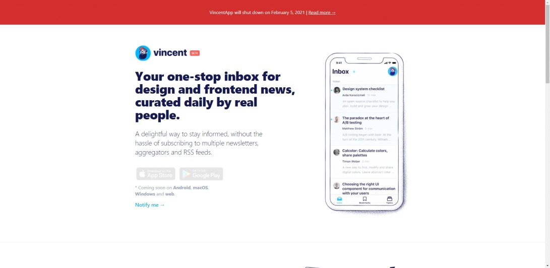 Vincent - Design and frontend news