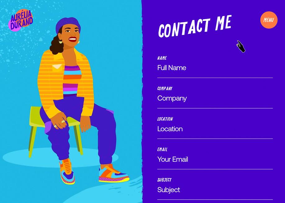Aurelia Durand - Contact page