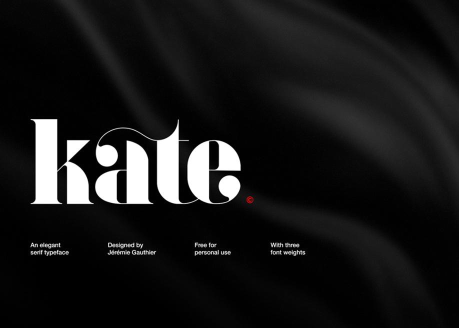 Kate typeface designed by Jérémie Gauthier