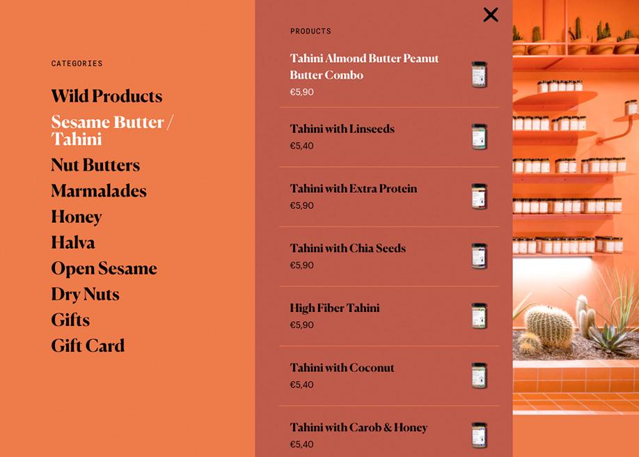 Wild Souls - Mega-menu for e-commerce store