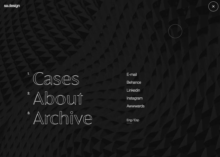 sa.design - Overlay menu