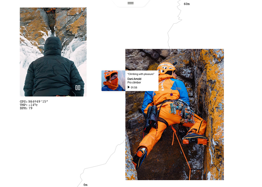 Mammut promotional site - Siberia expedition storytelling