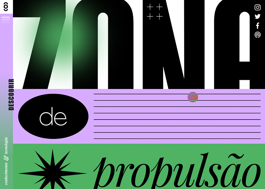 Zona de Propulsão (Mídia NINJA Collective) -  Typography design inspiration