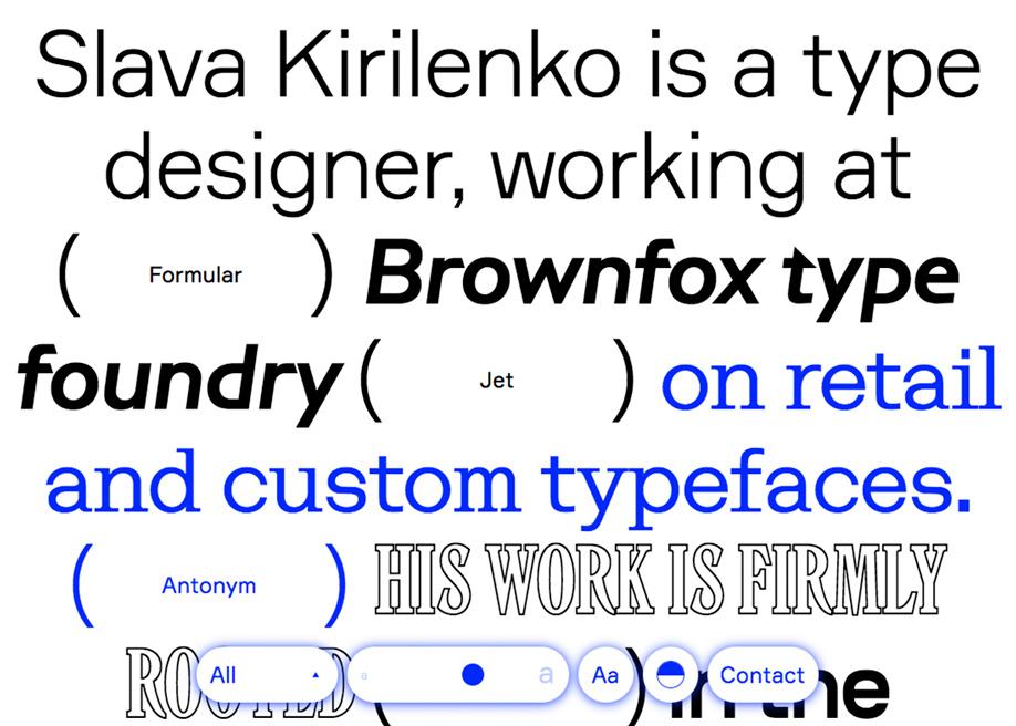 Slava Kirilenko - Type designer