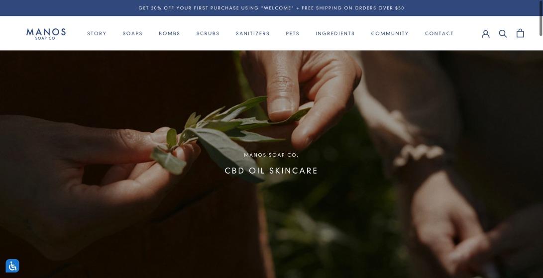 Luxury CBD Oil Skincare Products – Manos Soap Co.