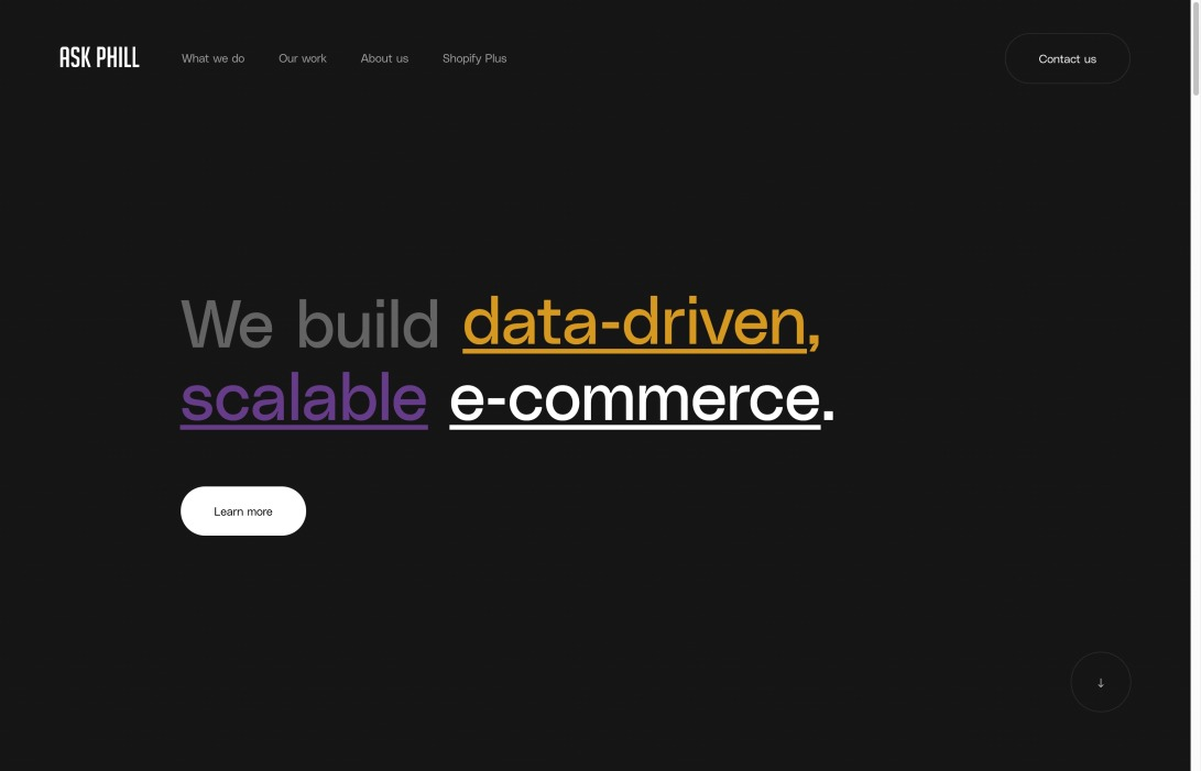 Ask Phill - We build data-driven, scalable e-commerce