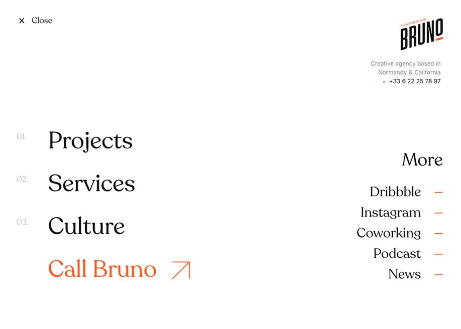 Bruno - Overlay menu