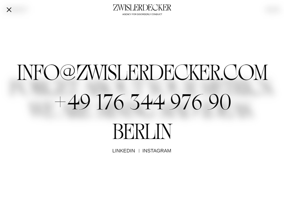 Zwisler Decker - Contact page