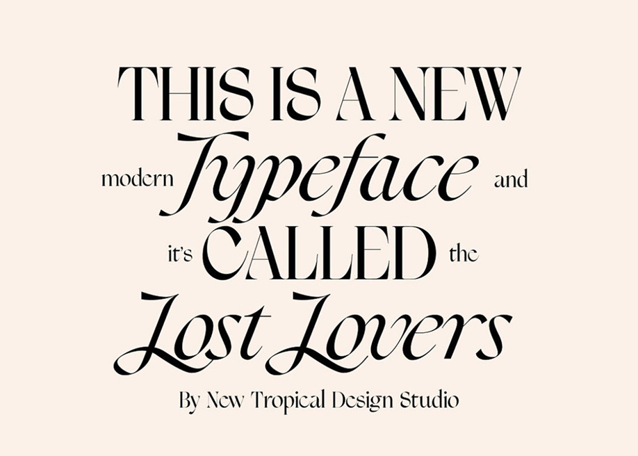 Lost Lovers typeface