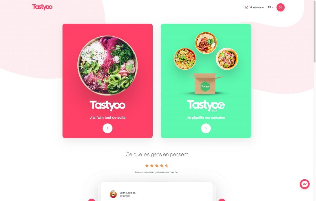 """Tastyoo - Des plats """"cuisinés maison"""" chaque jour par nos chefs, livrés gratuitement à la maison ou au bureau!"""