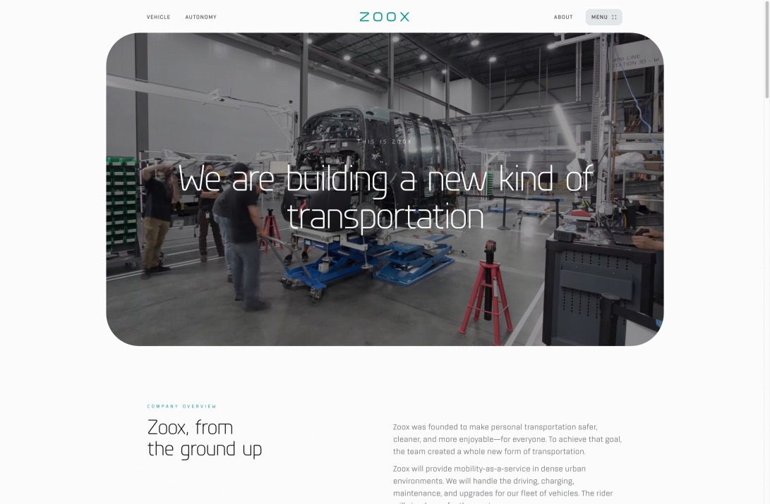We are building a new kind of transportation - Zoox