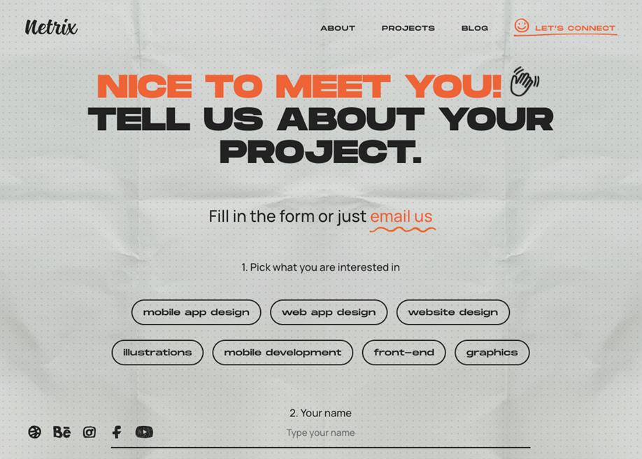 Netrix - Contact form