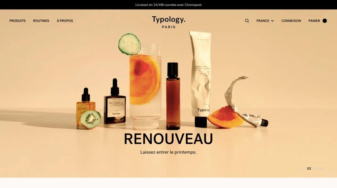 Typology.com: du soin de la peau vegan, éthique et efficace