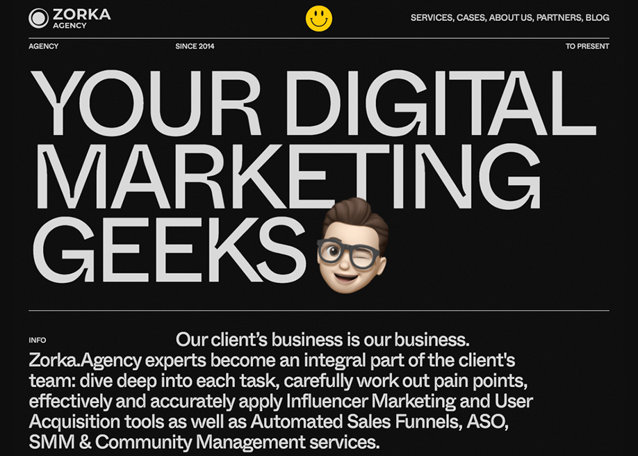 Zorka Agency - About page